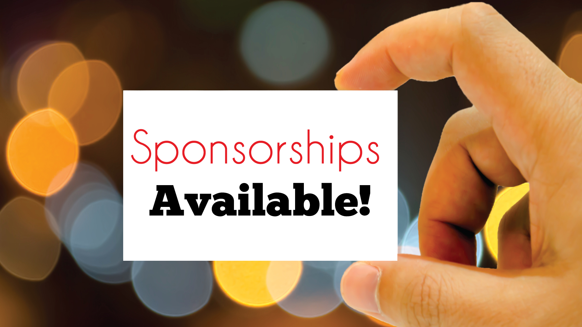 Sponsorships & Advertising Available