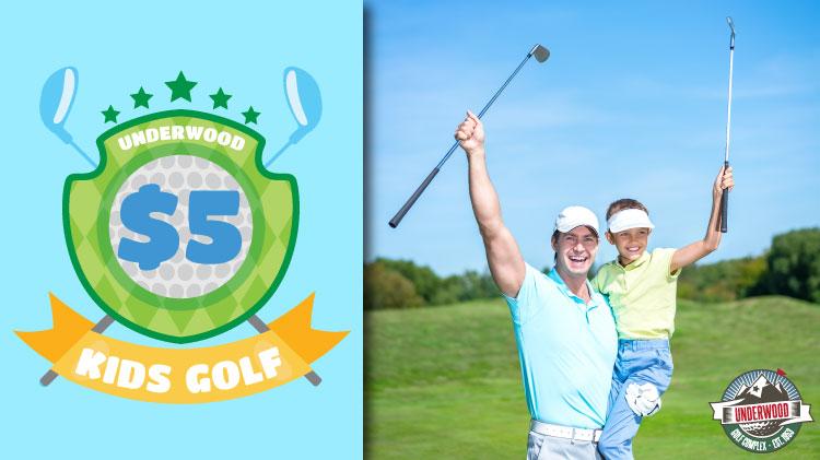 Kids Golf for $5