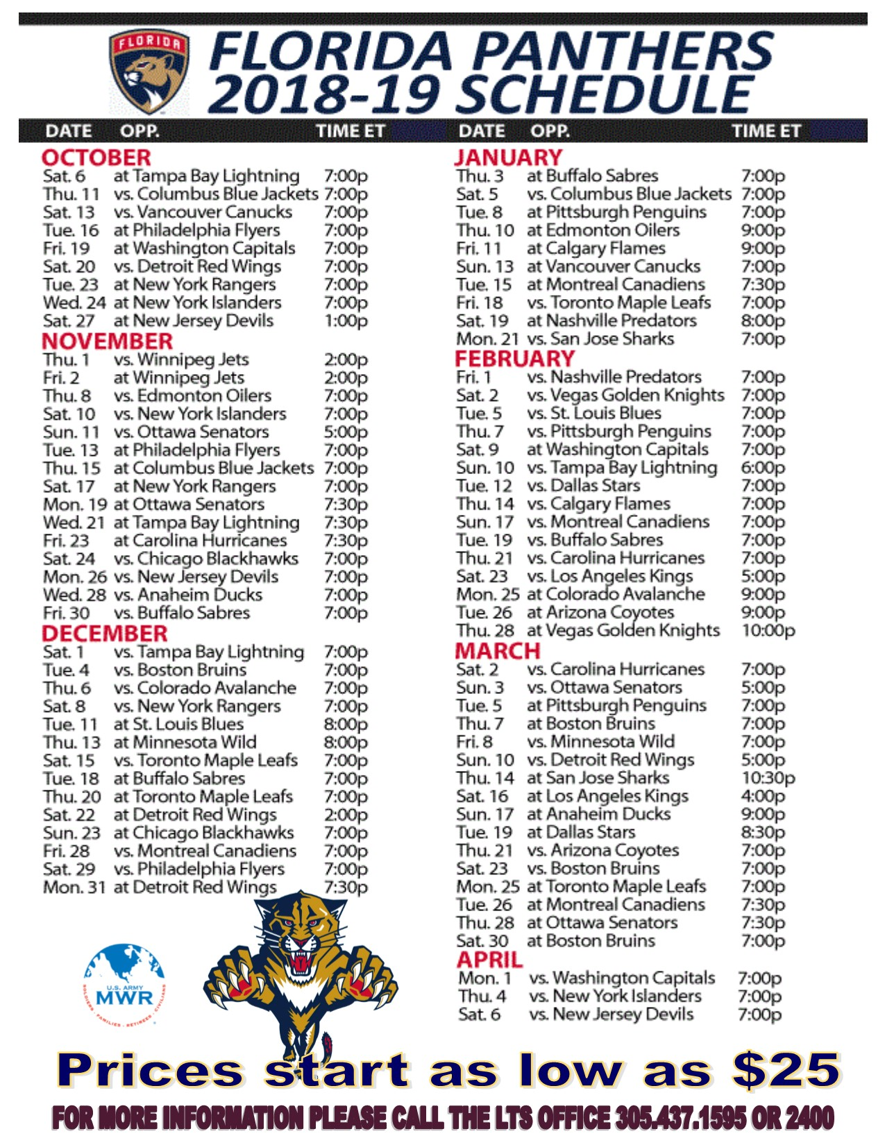 PANTHER TICKETS