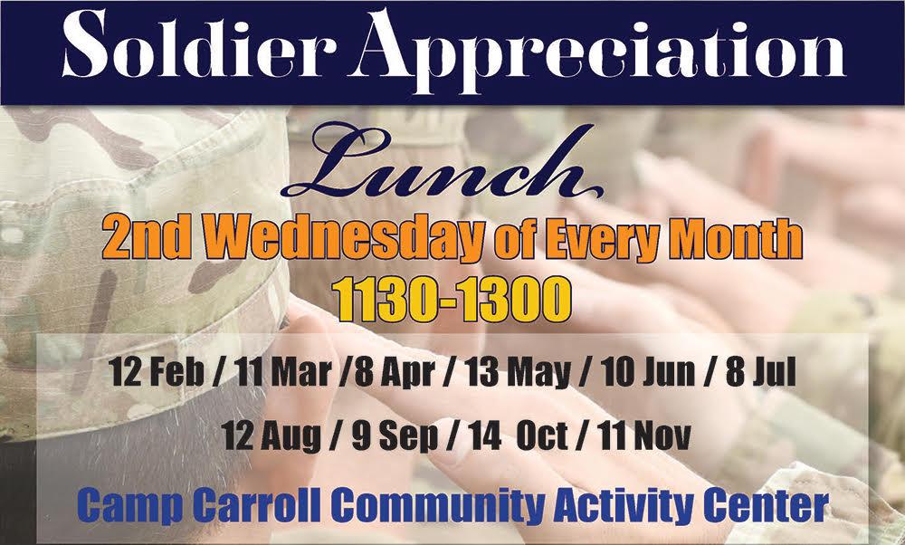 Soldier Appreciation Lunch