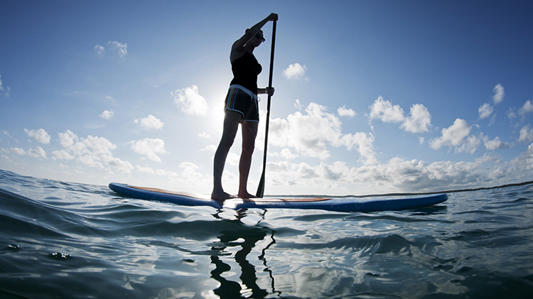Stand-up Paddleboarding at the Beach