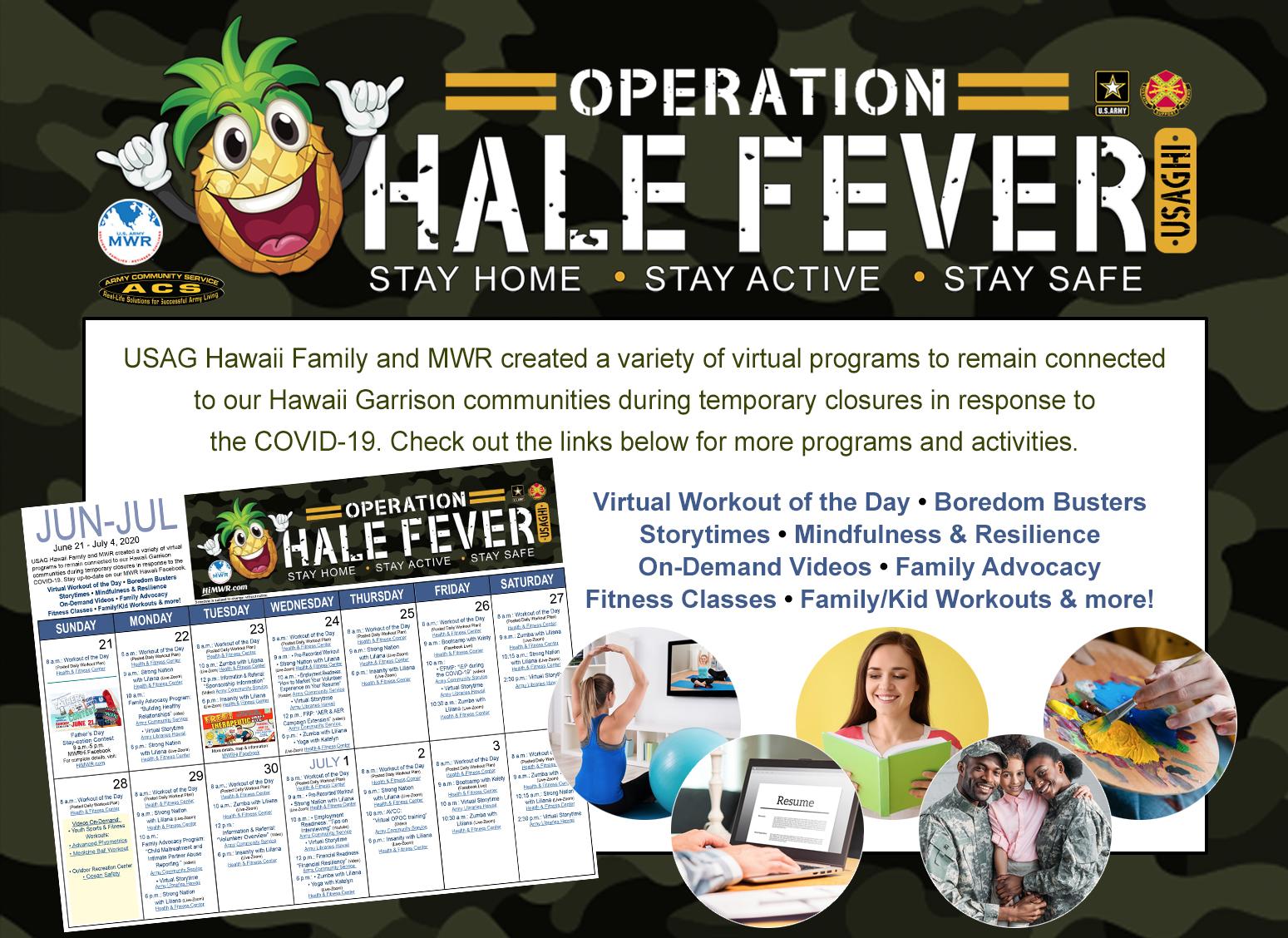 Operation Hale Fever Calendar