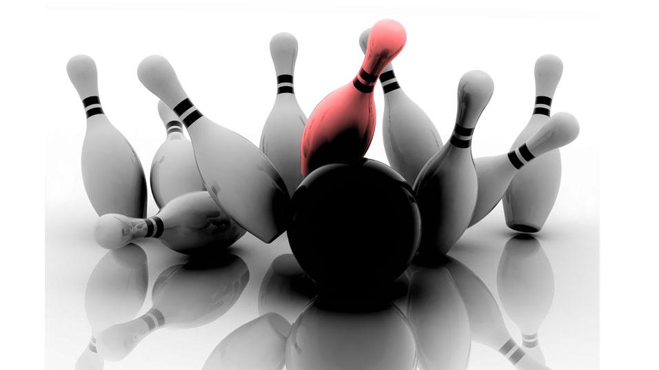 Red Pin & Cosmic Bowling