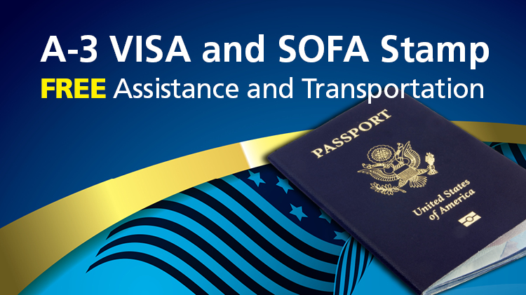 A-3 VISA and SOFA Stamp