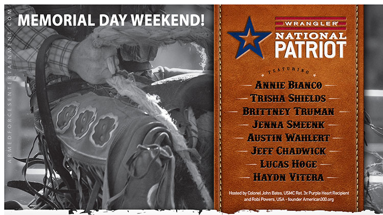 Wrangler National Patriot Tour Memorial Day Weekend!